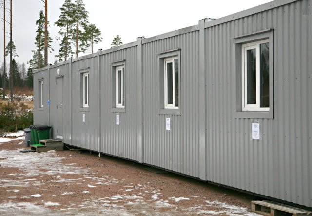 Temporary building - use of modular block-containers